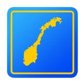 Norway European button — Stock Photo
