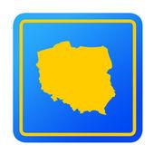 Poland European button — Stock Photo