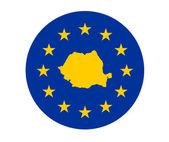 Romania European flag — Stock Photo