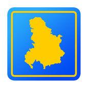 Serbia and Montenegro European button — Stock Photo