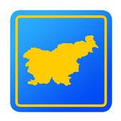 Slovenia European button — Stock Photo