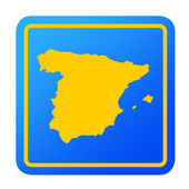 Spain European button — Stock Photo