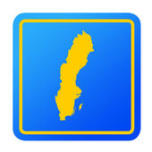 Sweden European button — Stock Photo