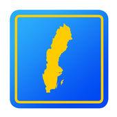 Sweden European button — Stock Photo