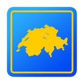 Switzerland European button — Stock Photo