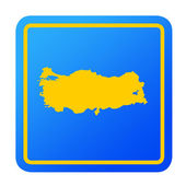 Turkey European button — Stock Photo