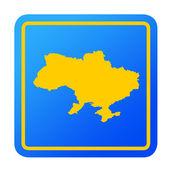 Ukraine European button — Stock Photo