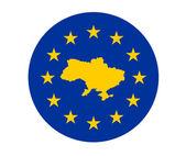 Ukraine European flag — Stock Photo