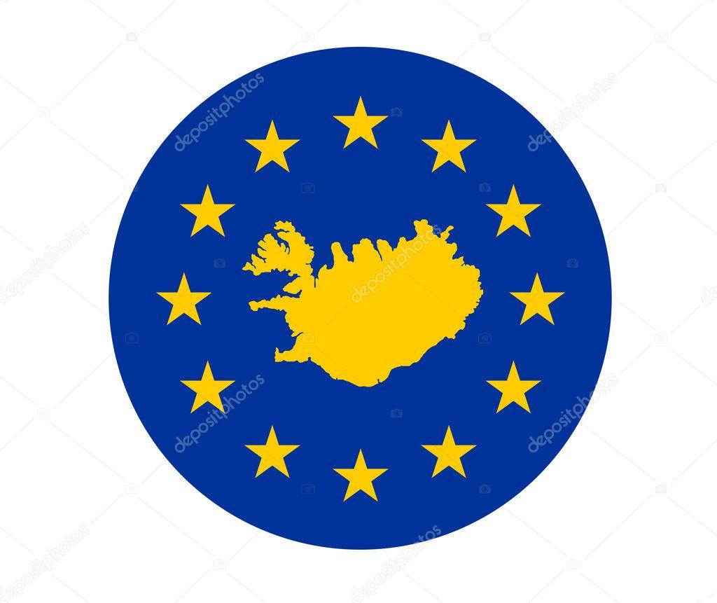冰岛欧洲标志 — 图库照片