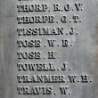 Names on old war memorial — Photo