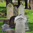 Old Victorian gravestones — Stock Photo