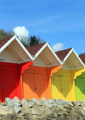 Beach chalets and huts — Stock Photo
