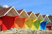 Beach huts or chalets — Stock Photo