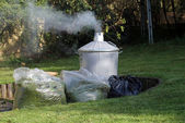 Garden incinerator — Stock Photo