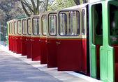 Open railway carriage doors — Stock Photo