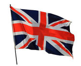Union Jack flag isolated — Stock Photo
