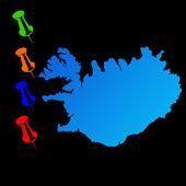 Iceland travel map — Stock Photo