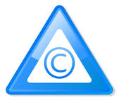 Copyright warning sign — Stock Photo