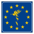 Stock Photo: Faroe Islands Europebutton
