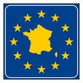 France European button — Stock Photo