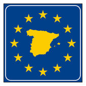 Spain road sign — Stock Photo