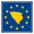 Bosnia and Herzegovina European button — Stockfoto