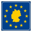 Stock Photo: Germany Europebutton