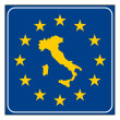 Italy European button — Foto Stock