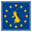 England European road sign — Stock Photo