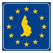 Liechtenstein European button — Stock Photo