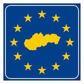 Slovakia road sign — Stock Photo