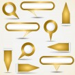 Set of gold pointers — Stock Vector