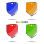 Set of colored pins — Stock Vector