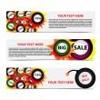 Royalty-Free Stock Vector Image: Set of horizontal sale banners