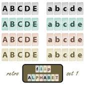 Flip alphabet set 1 — Stock Vector