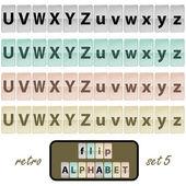 Flip alphabet set 5 — Stock Vector