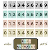 Flip alphabet set 6 — Stock Vector