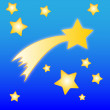 Royalty-Free Stock Immagine Vettoriale: Comet and stars