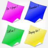 Fyra färgade klistermärken — Stockvektor
