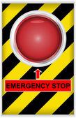 Emergency stop button — Stock Vector