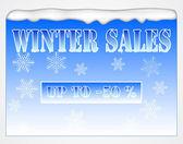 Winter sales board — Stock Vector