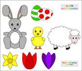 Easter symbols — Stock Vector