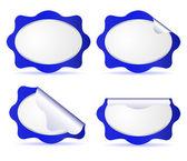 Four blue labels — Cтоковый вектор