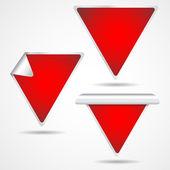 Etiquetas del triángulo — Vector de stock