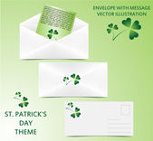 Envelope - St. Patrick theme — Stock Vector