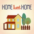 Home sweet home — Stock Vector
