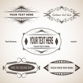 Set of text frames — Stock Vector