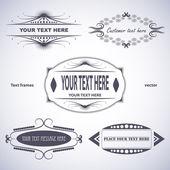 Set of text frames — Stock Vector
