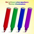 Stock Vector: Set of color markers