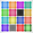 Set of colored squared buttons — Stock Vector
